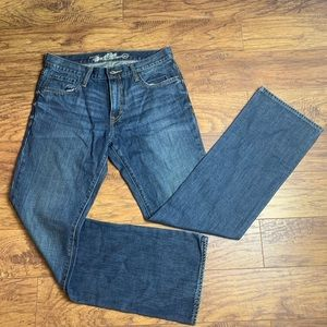 OLD NAVY boot cut dark blue jeans size 32x34